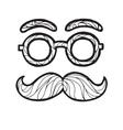 sketch male mustache vector image vector image