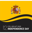 spain independence day design card vector image