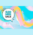 summer sale banner pastel color vector image vector image