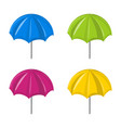 umbrella set symbol icon design vector image