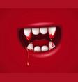 vampire monster cartoon mouth vector image