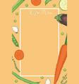 vegan food menu template vector image vector image