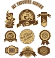 vintage retro coffee badges vector image vector image