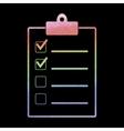 Watercolor checklist icon vector image vector image