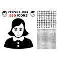 woman icon with bonus vector image vector image