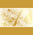 wuhan china city map in retro style in golden vector image vector image