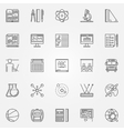 Education and school icons set vector image