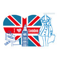 woman shopping in london card vector image