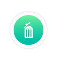 garbage icon trash bin icon vector image