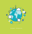 internet connection technology flat vector image