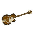 archtop guitar vector image