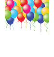 Baloons on white background vector image