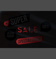 banner black friday 50 with special offer vector image vector image