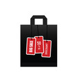 big sale on black paper bag vector image vector image