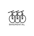 bike rental logo design in a minimalist style vector image vector image
