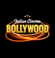 bollywood indian cinema film banner indian cinema vector image