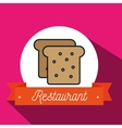 bread bakery restaurant icon vector image vector image