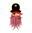 captain pirates ghost mythical angry boss vector image vector image
