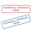 chemical storage zone textile stamps vector image vector image