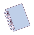 closed notebook icon vector image vector image