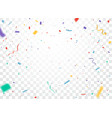 colorful confetti celebrations design vector image vector image