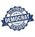 democrat stamp sign seal vector image vector image