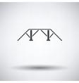 Dog training bench icon vector image