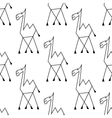 doodle sketch african camel seamless pattern vector image vector image