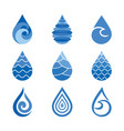 drops water icons vector image vector image