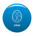 durian icon blue vector image vector image