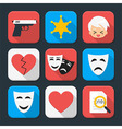 Film genre squared app icon set vector image