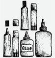 Glue icon set vector image