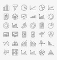 graph chart line icons vector image