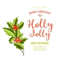 Holly Jolly - Christmas background art vector image vector image