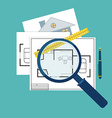 home inspector icon vector image