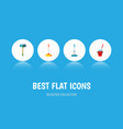 icon flat broomstick set of mop sweep broomstick vector image vector image