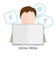 icon Social Media vector image