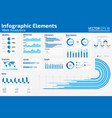 infographic elements web analytics vector image