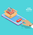 isometric flat concept home moving vector image vector image