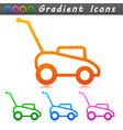 lawnmower symbol icon design vector image