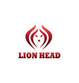 lion head logo color line design template vector image vector image