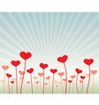 love flowers vector image vector image