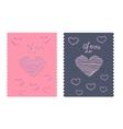 love letter Valentine thread heart vector image vector image