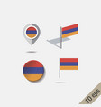 map pins with flag armenia vector image