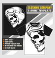 mock up clothing company t-shirt template skull vector image vector image