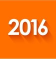 New year 2016 in flat style on orange background vector image vector image