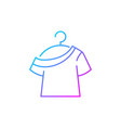 one shoulder t shirt gradient linear icon vector image vector image