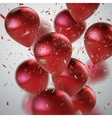 Red Balloon Bunch vector image