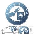 repair and service plumbing washing machine symbol vector image vector image
