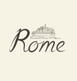 rome city background landmark lettering travel vector image